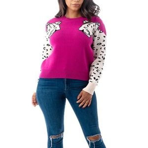 SALE! New Super Soft Leopard Print Sleeve Sweater